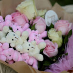 Buket sa roze ružama