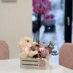 cveće u kutiji sa medom – poklondzija – online gift shop – dostava cveća beograd