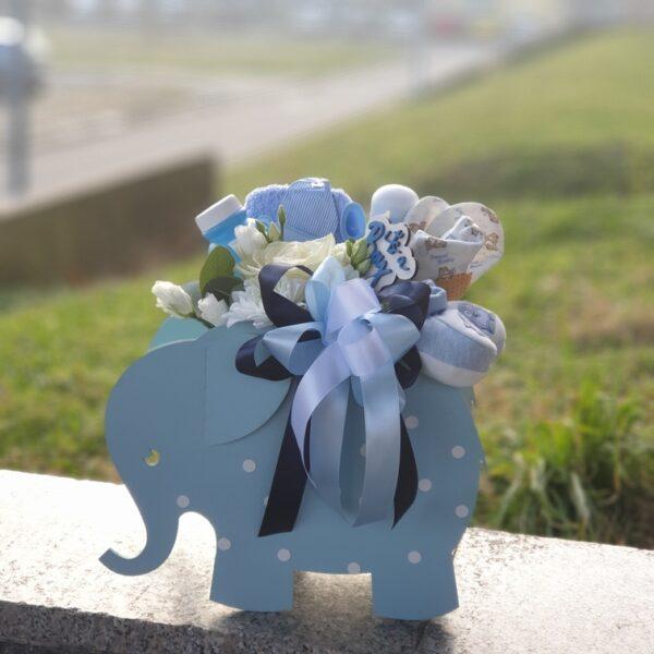 poklon za bebe - slonić - dostava poklona u Beogradu - online cvećara - Gift shop