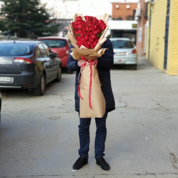 xxl buket sa crvenim ružama - Dostava cveća Beograd - online cvećara - gift shop