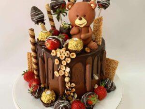decija torta za rodjendan sa fererom i medom - dostava torti beograd - poklondzija online giftshop