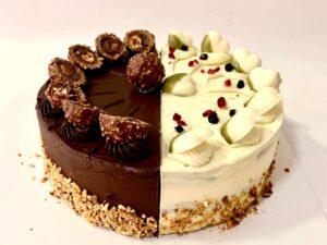 torta crna i bela čokolada - dostava torti beograd - poklondzija online giftshop