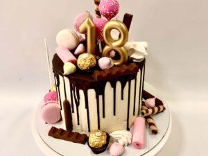 elegantna torta za 18 rodjendan - za devojku - dostava torti beograd - poklondzija online giftshop