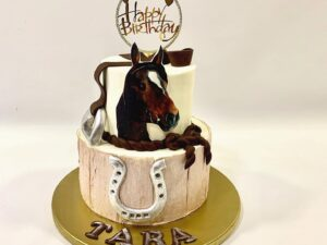 torta za rodjendan za ljubitelje konja, jahanja - sa motivima - dostava torti beograd